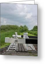 Caen Hill Lock 38 Greeting Card