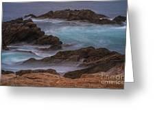 California Coastal Water Motion Greeting Card