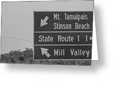 California State Sign Greeting Card