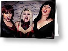 Call Of The Vampires Women Greeting Card