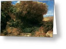 Campagna Landscape 1858 Greeting Card