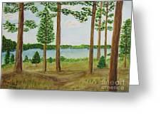 Camping At The Lake Greeting Card