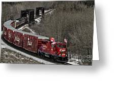 Canadian Pacific Holiday Train 2018 II Greeting Card by Brad Allen Fine Art