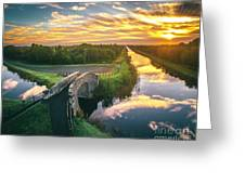Canal Sunrise Greeting Card