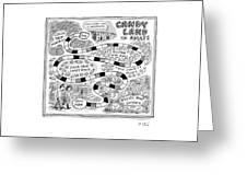 Candy Land For Adults Greeting Card
