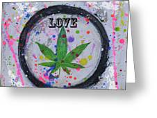 Cannabis With Love Greeting Card