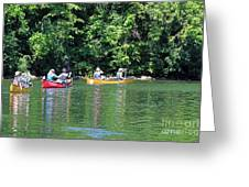 Canoeing On The Rideau Canal In Newboro Channel Ontario Canada Greeting Card