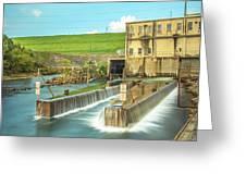 Canyon Lake Spillway Greeting Card