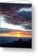 Canyon Sunset Greeting Card