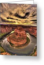 Canyons Bend Vertical  Greeting Card