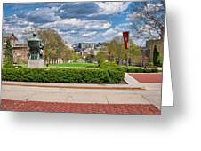 Capitol - Madison - Wisconsin From Bascom Hall Greeting Card