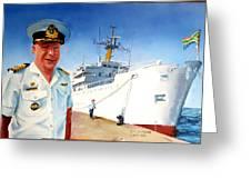 Capt Glen Hallett Greeting Card by Tim Johnson