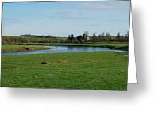 Carham Church And River Tweed Greeting Card