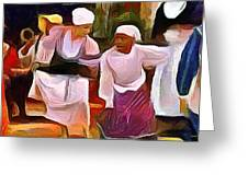 Caribbean Scenes - Folk Dance Festival Greeting Card