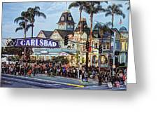 Carlsbad Village Sign Greeting Card