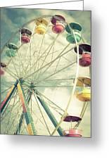 Carolina Beach Ferris Wheel Greeting Card