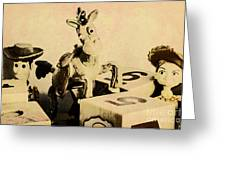 Cartoon Character Cowboys And Cowgirls Greeting Card