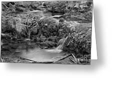 Cascades In A Peaceful Creek Scenery Greeting Card