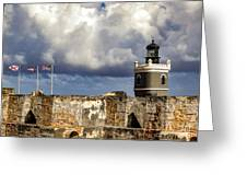 Castillo San Felipe Del Morro Lighthouse San Juan, Puerto Rico  Greeting Card