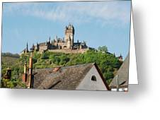 Castle At Cochem In Germany Greeting Card
