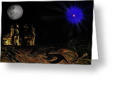 Castle In The Night Greeting Card