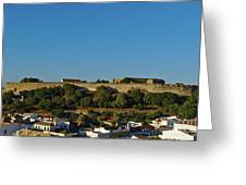 Castle Of Castro Marim From The Hill Greeting Card