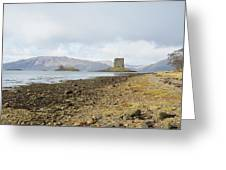castle Stalker in late autumn Greeting Card