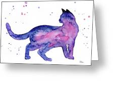 Cat In Space Greeting Card