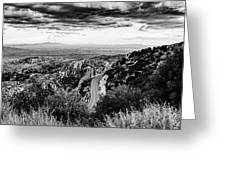Catalina Highway Black And White, Tucson Greeting Card by Chance Kafka