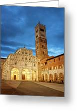 Cathedral Lucca Italy Greeting Card