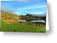 Cawfield Quarry And Hadrians Wall In Northumberland Greeting Card