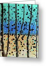 Celebration - Abstract Landscape  Greeting Card