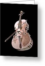 Cello String Music Instrument Musician Color Designed Greeting Card