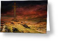 Celtic Cross Llanddwyn Island Greeting Card