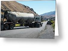 Cement Truck Turning Greeting Card