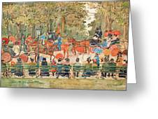 Central Park 1901 - Digital Remastered Edition Greeting Card