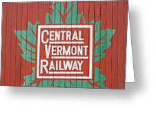 Central Vermont Railway Greeting Card