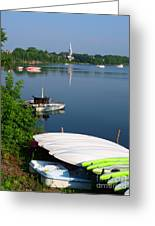 Chambly Basin And The Church Of St Joseph In Quebec Greeting Card