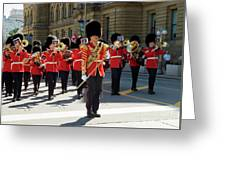 Changing Of The Guard In Ottawa Ontario Canada Greeting Card