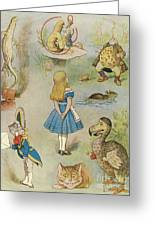 Characters From Alice In Wonderland  Greeting Card
