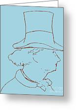 Charles Baudelaire By Edouard Manet Greeting Card
