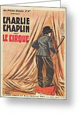 Charlie Chaplin Dans Le Cirque - Vintage Advertising Poster Greeting Card