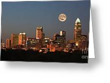Charlotte City Skyline At Sunset Greeting Card