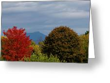 Charlotte Vermont View Of Camels Hump Greeting Card