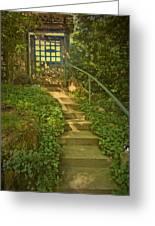 Chateau Montelena Garden Stairway Greeting Card