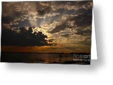 Cheboygan Lakeside Sunset Greeting Card