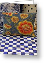 Checkerboard And Pillow Greeting Card