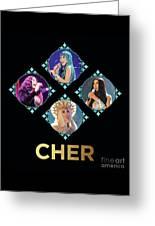 Cher - Blue Diamonds Greeting Card