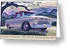 Chevy Truck Centennial 1964 Shortbed Custom Half Ton Greeting Card