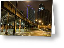 Chicago City Streets Greeting Card